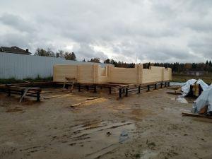 Технадзор за строительством бани из клееного бруса в Подмосковье