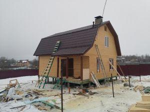 Строительный надзор при возведении дома из клееного бруса в Московской области